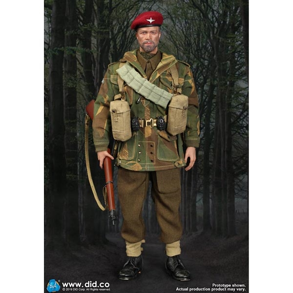 PREORDER Boxed Figure: DiD WWII British 1st Airborne Division (Red Devils)  Sergeant Charlie Version A (80136A)