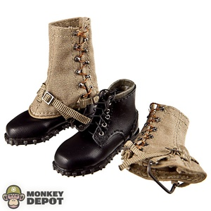 Boots: DiD German WWII Mountain w/Styrian Gaiters