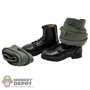 Boots: DiD German WWI Short Black Boots w/ Puttees