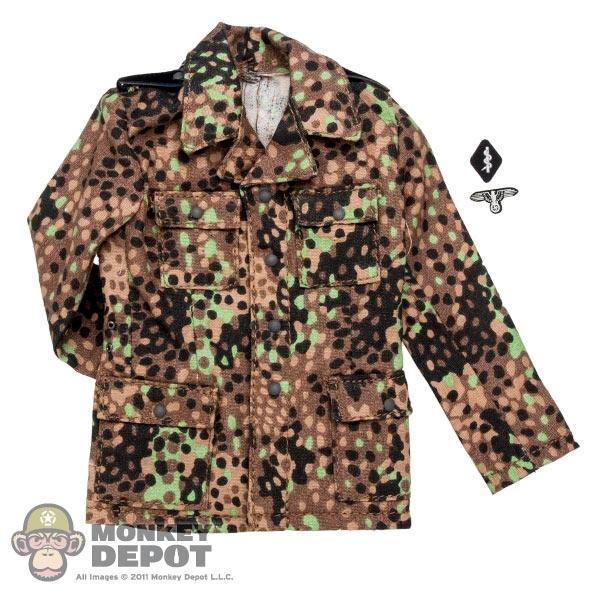 Tunic: DiD German WWII Waffen-SS 44 Pea Dot Camo Tunic w/Insignia