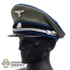 Hat: DiD German WWII SS Officer Visor w/Blue Piping