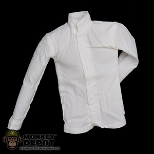 Shirt: DiD White Collarless Shirt w/Padding