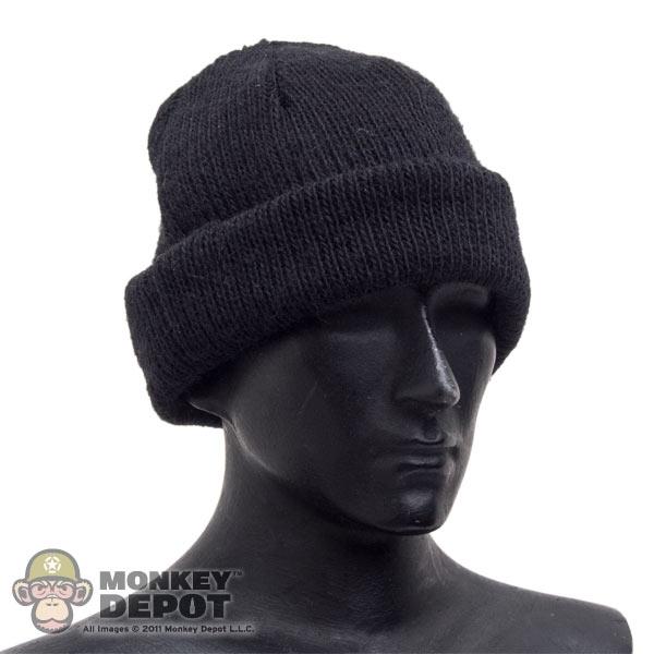 6a6f9c49a53 Monkey Depot - Hat  DiD Black Navy Knit Cap