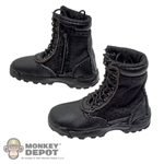 "Boots: DiD Black SWAT 9"" Side Zip Boots"