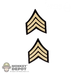 Insignia: DiD Sergeant Chevron Patches (Peel & Stick)