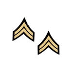 Insignia: DiD Corporal Chevron Patches (Peel & Stick)