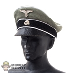 "Hat: DiD Waffen-SS Officer ""Crusher"" Visor Cap"