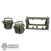 Ammo: DiD German WWII Basket Mag Carrier w/2 MG34 Mag Drums