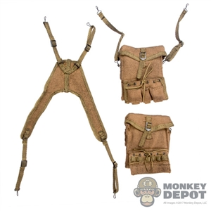 Bags: DiD WWII US Medical Pouches w/Y Strap (Weathered)