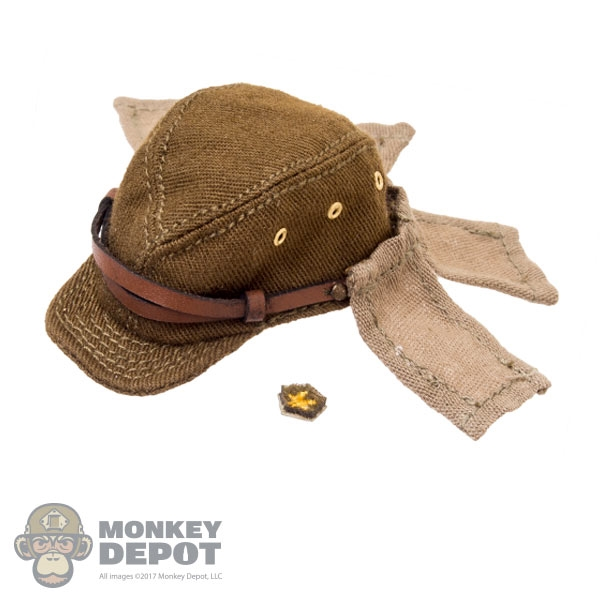 Tan Hat w//Flaps Japanese Infantry Arms 1//6 scale toy WWII