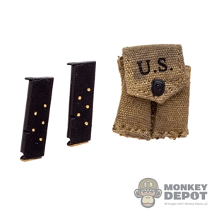 Ammo: DiD WWII US M1911 Mag Pouch (Weathered) (Ammo Included)