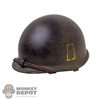 Helmet: DiD WWII US 77th Painted M1 Helmet (Metal)