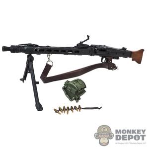 1/6th Scale Dragon WWII German MG38 w/ Ammo barrel Glued