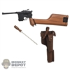 Pistol: DiD Mauser C96 Pistol w/Screwdriver & Holster (real leather) (READ NOTES)