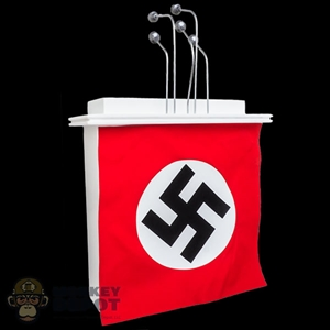Podium: DiD White Podium w/Microphones and Nazi Banner