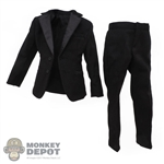 Suit: DiD Mens Black Tuxedo Jacket and Pants