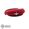 Hat: DiD Mens Maroon Beret w/Parachute Regiment Cap Badge