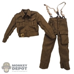 Uniform: DiD Mens British WWII Battledress w/Braces