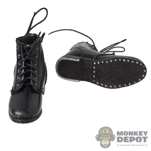 Boots: DiD WWII Russian Genuine Leather Weathered Black Boots