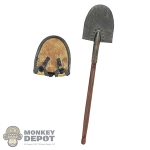 Tool: DiD German WWI Shovel w/ Cover (Weathered) (Wood + Metal)