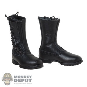 Boots: DiD Black Side Lacing Fallschirmjager Paratrooper Boots w/Feet (Leather)