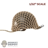 Helmet: DiD 1/12th Mens M1C Airborne w/Net and Insignia