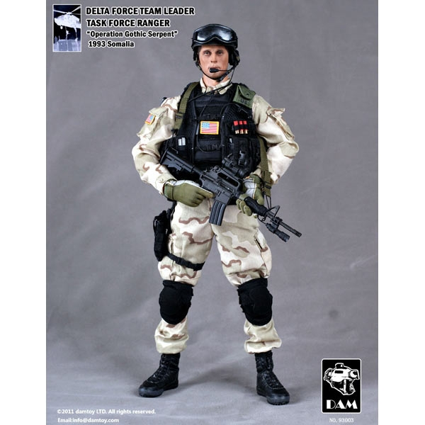 1//12 Scale Toy Delta Force Team Black Pro-Tec Helmet