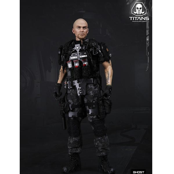 DAMTOYS Ghost Series Titans PMC Frank Casey Armour Knee Pads loose 1//6th scale