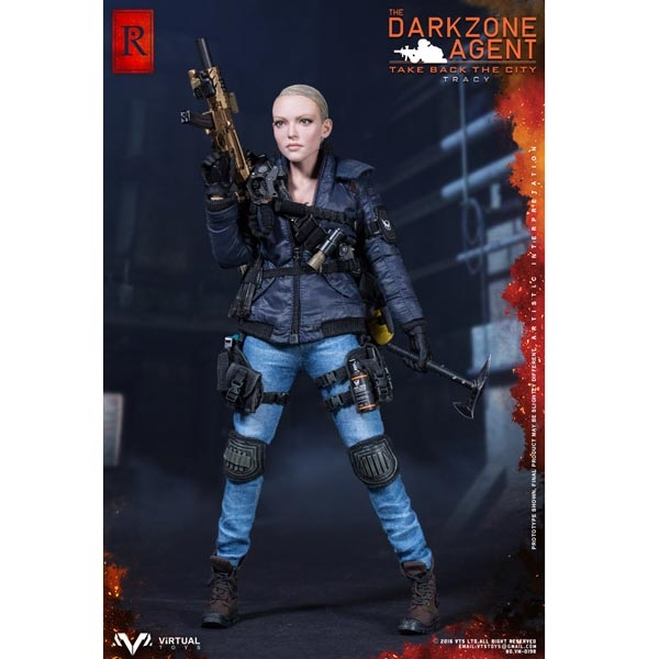 Virtual Toys The Dark Zone Agent Tracy Black Axe loose 1//6th scale