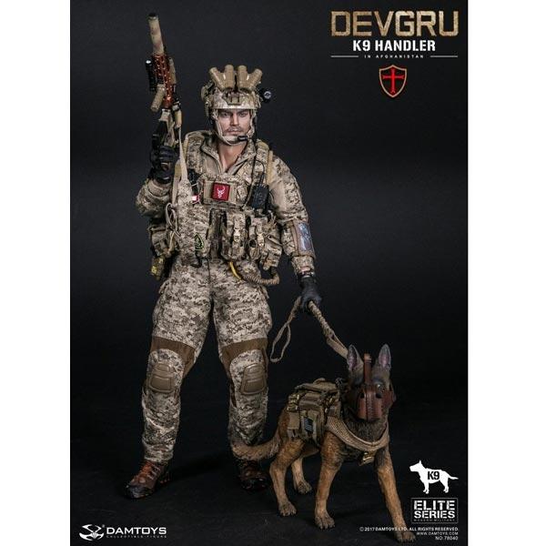 Boxed Figure: DamToys DEVGRU K9-Handler in Afghanistan (DAM-78040-D) *READ  NOTES