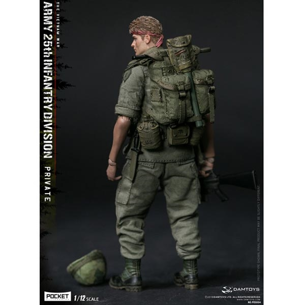 PO#  DAMTOYS  1//12 PO#CKET ARMY 25th Infantry Division Private PES004