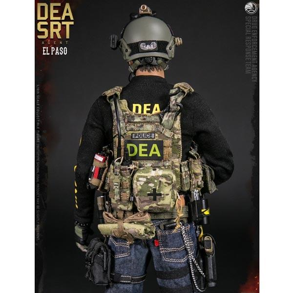 1//6 Scale Toy DEA SRT Agent El Paso Police Badge w//Lanyard