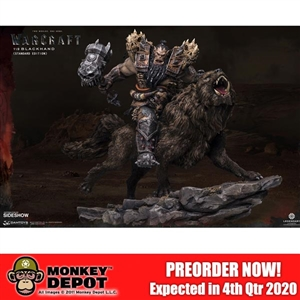 Statue: DamToys Warcraft Blackhand Riding Wolf (Standard Version) (905489)