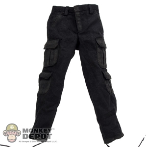 Pants: DamToys Black Cargo Pants (Aged)