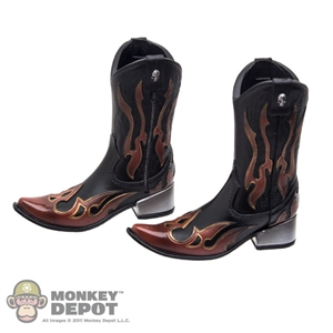 Boots: DamToys Flamed Cowboy Boots w/Ankle Pegs