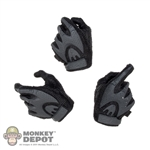 Hands: DamToys Black & Gray Molded Hand Set