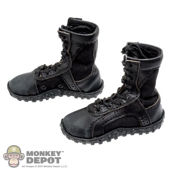 Monkey Depot Boots Damtoys Black Combat Boots