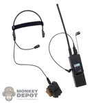 Radio: DamToys MH180 Tactical Headset w/PTT AN/PRC-148 MBITR Radio