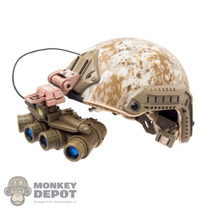 Helmet: DamToys FAST Maritime w/L4G32 NVG Mount & GPNVG-18 Ground Panoramic NVG
