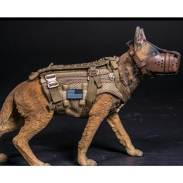 Monkey Depot - Vest: DamToys Frog K9 Modular Patrol Vest w/Leash