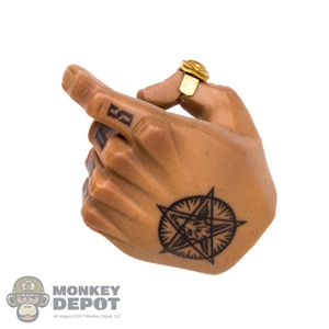 Hand: DamToys Black Tattooed Left Hand