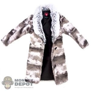 Coat: DamToys Silver Fur Coat