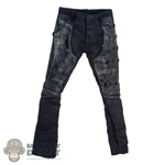 Pants: DamToys Female Black Leatherlike Pants