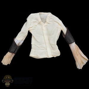 Shirt: DamToys Mens Pirate Shirt w/Removable Leather Guards (Dirty)