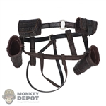 Belt: DamToys Mens Leatherlike Belt w/Holster & Pouches