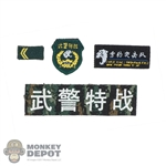 Insignia: DamToys Chinese People's Armed Police Force Snow Leopard Commando Unit Team Member Patch Set