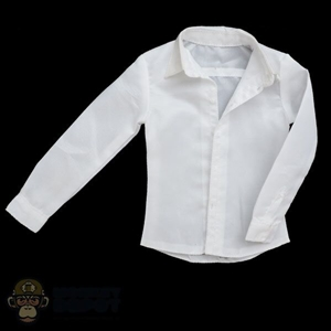 Shirt: DamToys Mens White See-Through Dress Shirt