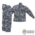 Uniform: DamToys Navy Working Uniform w/Name & Patch