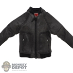 Coat: DamToys Mens Dark Leather-Like Jacket