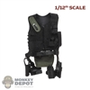 Vest: DamToys 1/12th SAS Tactical Vest w/Belt, Pouches, Holster & Knife